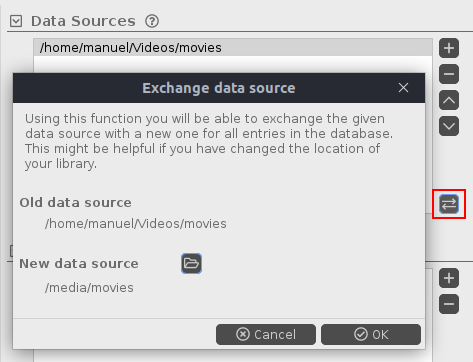Migrate data source